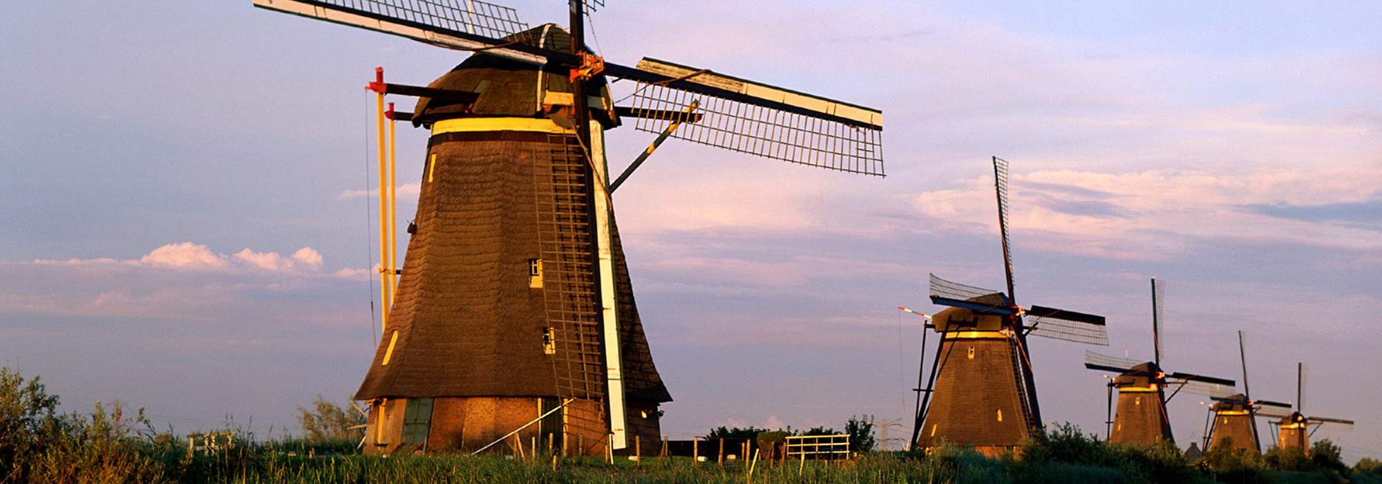 image of windmills in holland